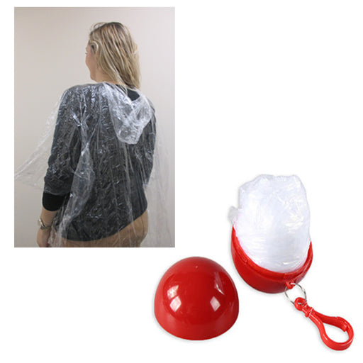 5 x Rain Poncho With Travel Case And Hook Hooded Jacket Reusable Outdoor Cover