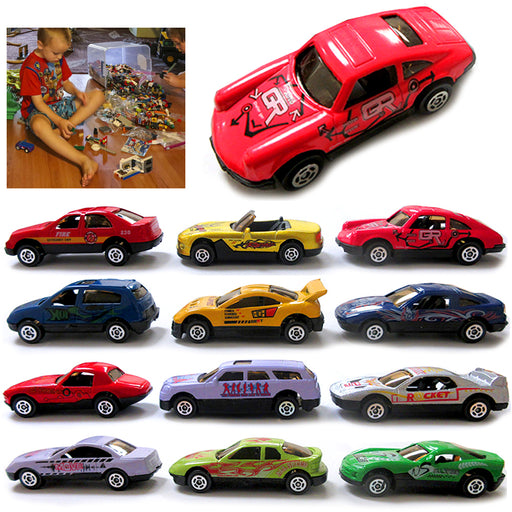 12pc Toy Cars Top Speed Diecast Metal Model Vehicle Collectible Assorted Boy Kid