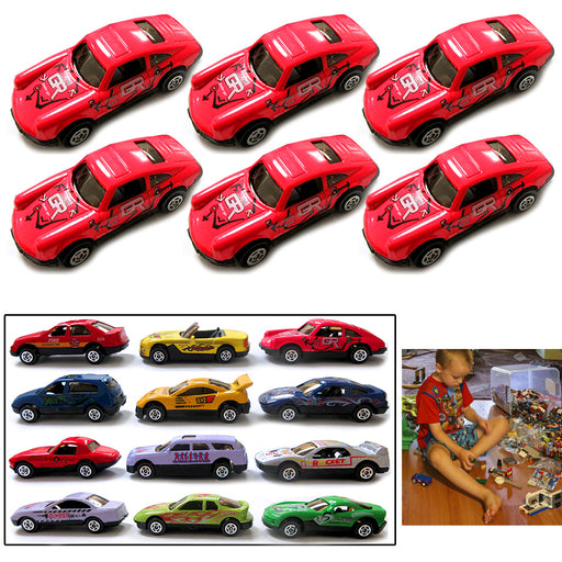 6pc Toy Cars Top Speed Diecast Metal Model Vehicle Collectible Assorted Boy Gift