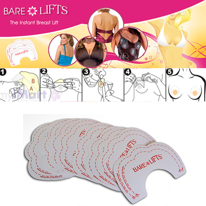 20 Pc Adhesive Breast Tape Nipple Lifts Instant Support Invisible Bra Push Up