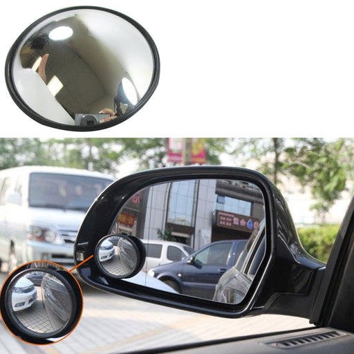 "2 x Blind Spot Mirror 3"" Wide Angle Convex Convex Rear Side View Cars Trucks SUV"