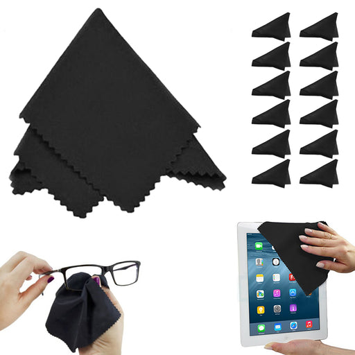 12PCS Microfiber Cleaning Cloths Cleaning Wipes Lens Glasses Camera Screen Phone