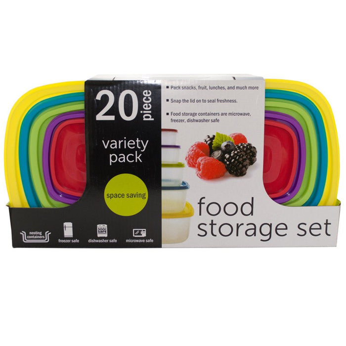 20 Pc Food Storage Variety Pack Container Meal Prep Freezer Microwave Reusable