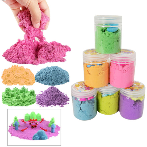 3 Pack Super Magic Sand Kids DIY Slime Kit Squishy Mud Putty 112g Non Toxic Toy