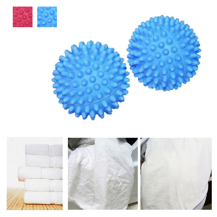 Dryer Ball Reusable 2 Piece Natural Way Soften Clothes Laundry Fabric Wool New