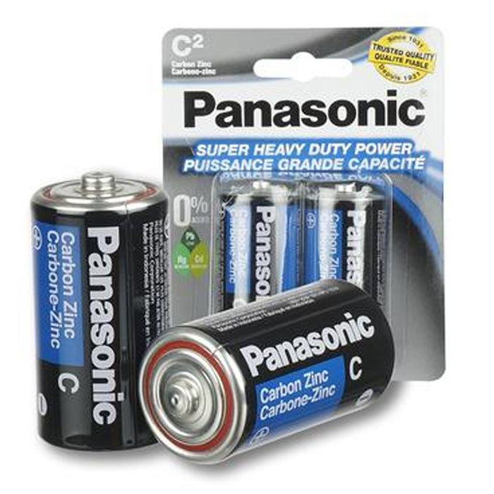 32 Pc Panasonic C Batteries Super Heavy Duty Carbon Zinc Battery 1.5V EXP. 2022