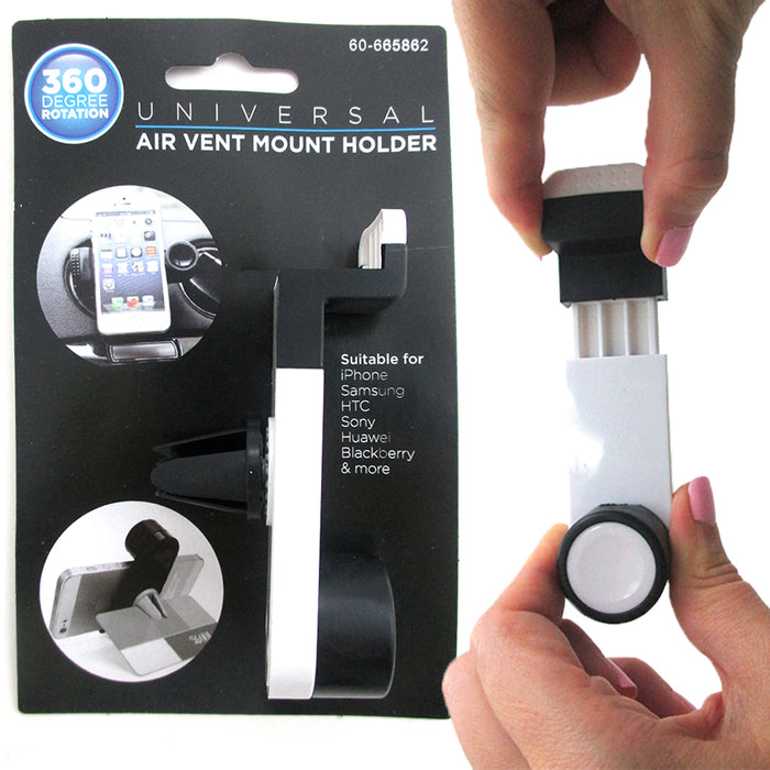 2 Pc Universal 360 Rotating Car Air vent Mount Holder Stand Mobile Phone GPS New