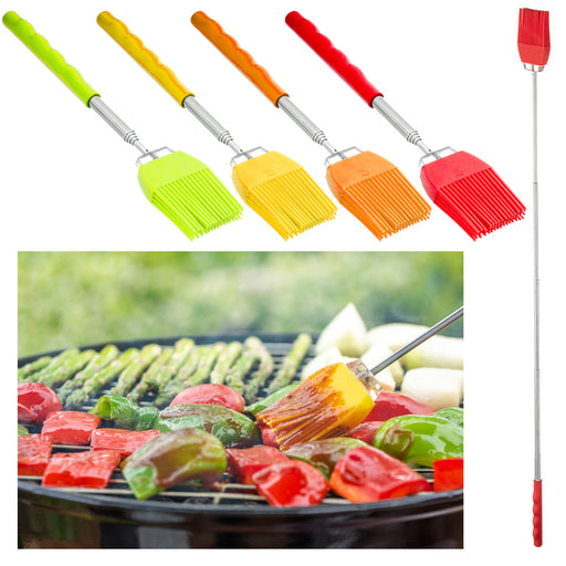 1 Silicone Basting Brush Extendable Telescopic Tool Cooking Utensil Pastry Sauce