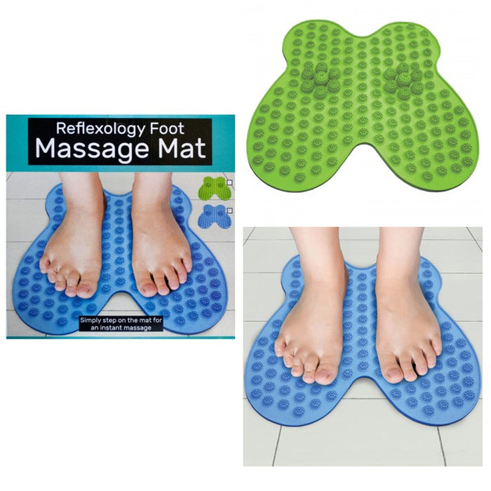 1 Reflexology Foot Massage Mat Pad Feet Massager Sole Scrub Pedicure Brush Spa !