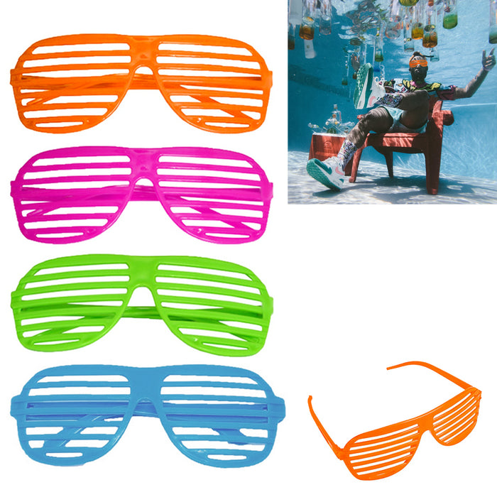 12 Pairs Shutter Shades Glasses Sunglasses Vintage Club Party Supplies Retro New