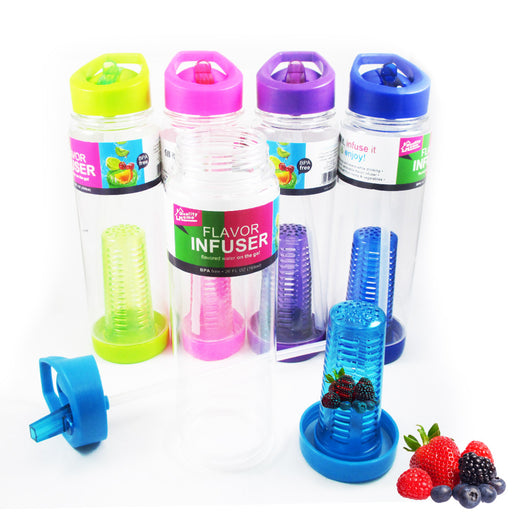 Infusing Flavor Infuser Water Bottle Natural Fruit Gym Sports BPA Free 26 oz New