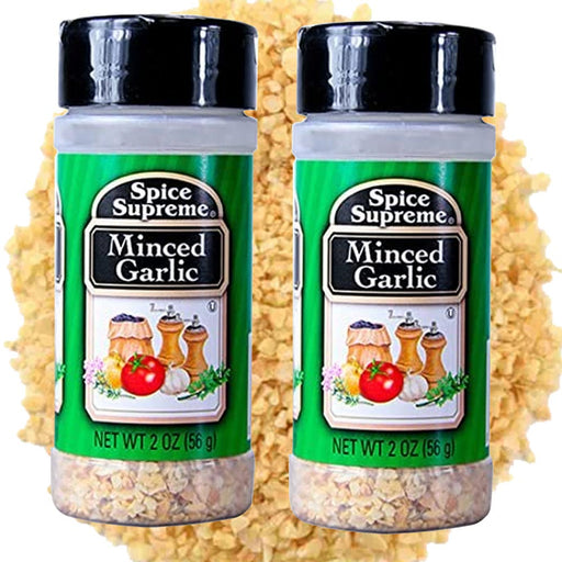 2PC Spice Supreme Minced Dried Garlic Seasoning 2Oz Jar Cooking Meat Veggies USA