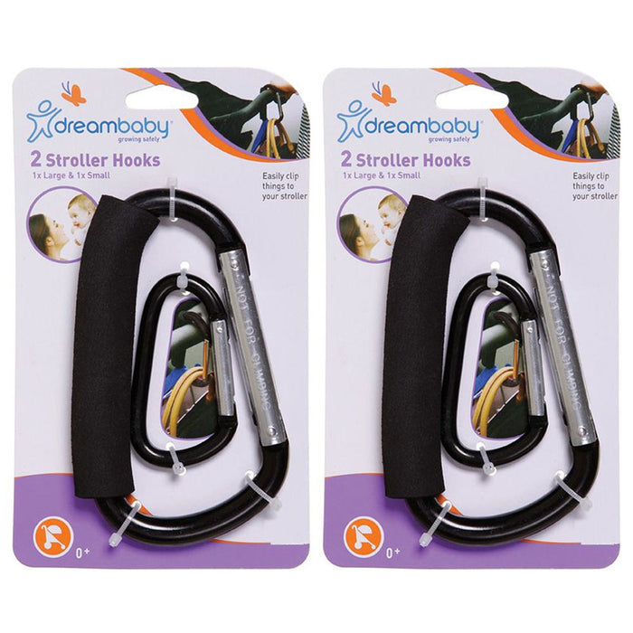 4 PC Baby Stroller Hooks Wheelchair Pram Carriage Bag Hanger Clips Accessories