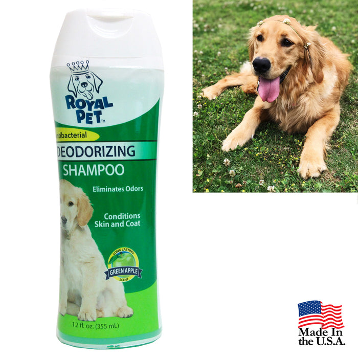 Natural Pet Dogs Shampoo Antibacterial Odor Eliminator 12oz Deodorizing USA Made