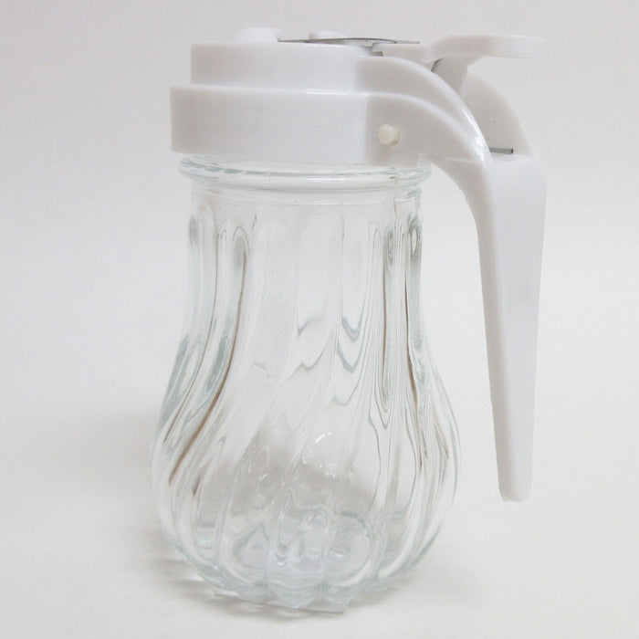 Honey Syrup Dispenser Glass Jar 7.6 oz Retro Style W/ Handle Container USA Stock