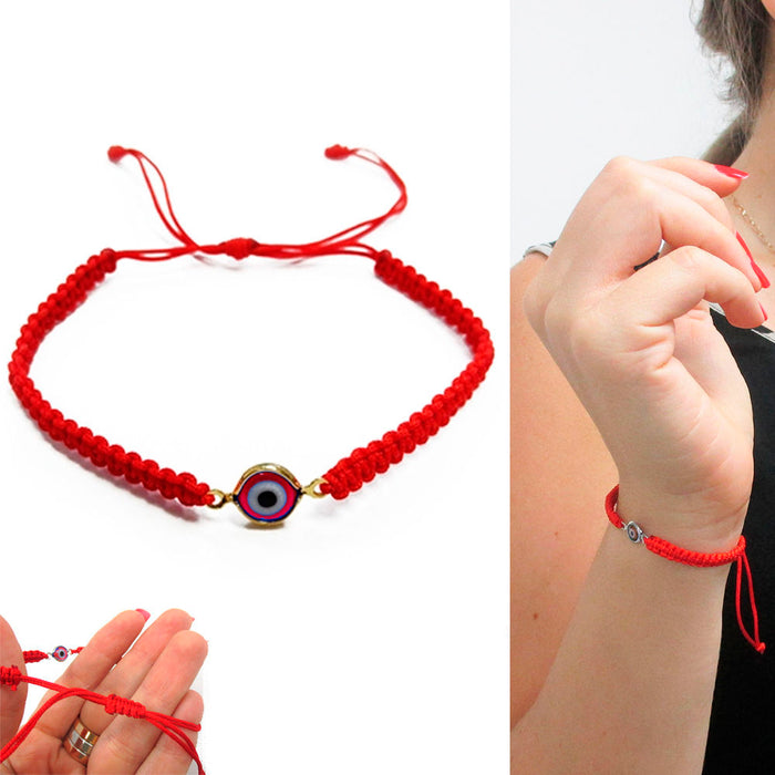 Evil Eye String Red Kabbalah Bracelet Mati Nazar Bead Good Luck Charm Protection