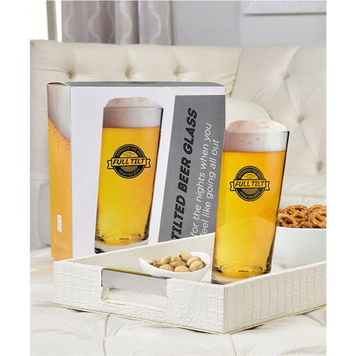 1 Tilted Beer Glass Pint Pub Bar 600 ml Soda Drink Mug Brewing Glasses Barware