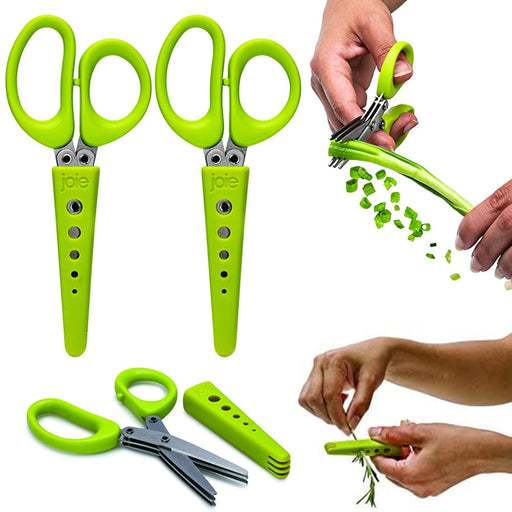 2 Pc Herb Veggie Scissors Stainless Steel Multiuse Shears Leaf Stripper BPA FREE