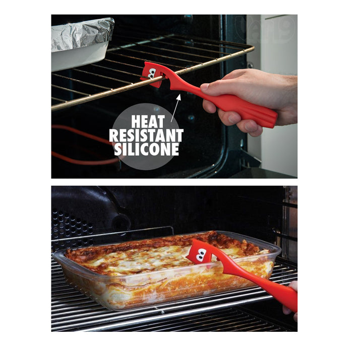 1pc Joie Devil Oven Pull Stick Push Heat Resistant Silicone Bakeware Rack Safety
