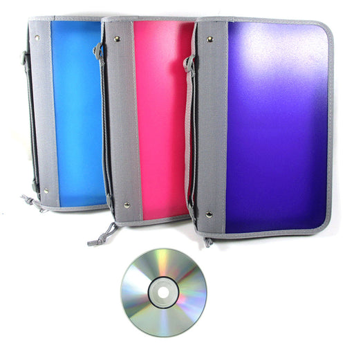 2 Pc CD Case Organizer Portable DVD Discs Wallet Holder Bag Album Media Storage