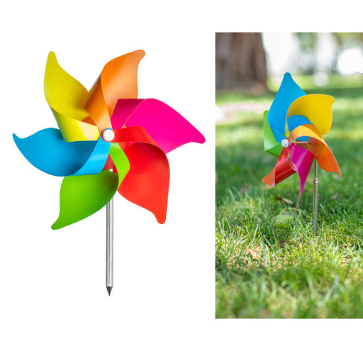 3 Pc Wind Mills Yard Decoration Windmill Flower Spinner Garden Decor Colorful