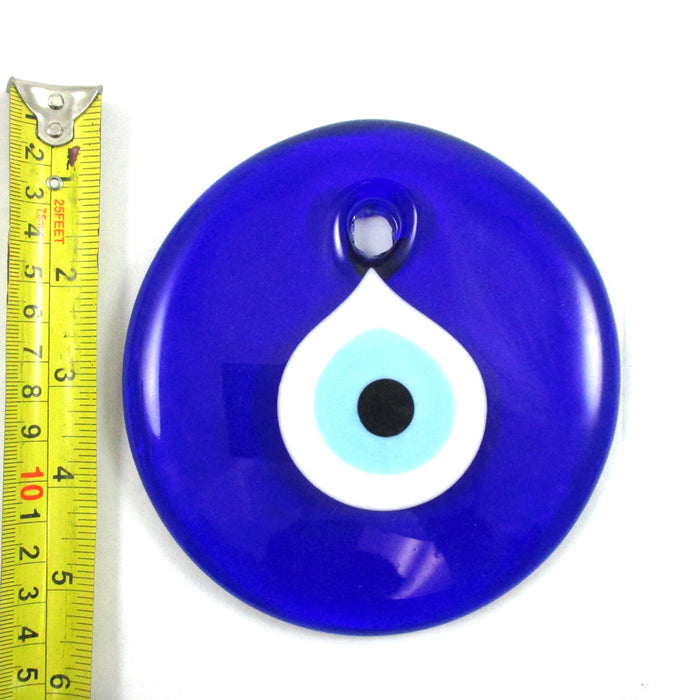 Large Blue Evil Eye Wall Hanging Protection Amulet  Luck Hamsa Decoration  5.25""