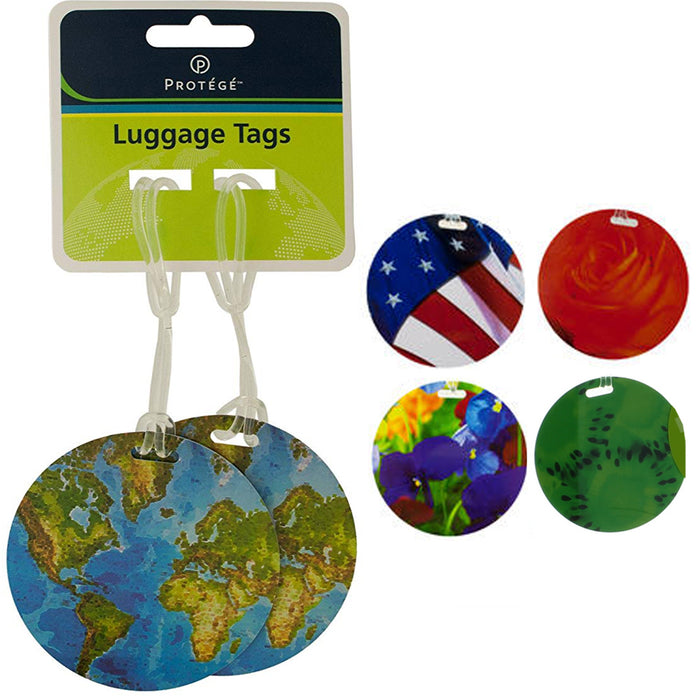 4 Travel Luggage Bag Tag Plastic Suitcase Baggage Office Name Address ID Label