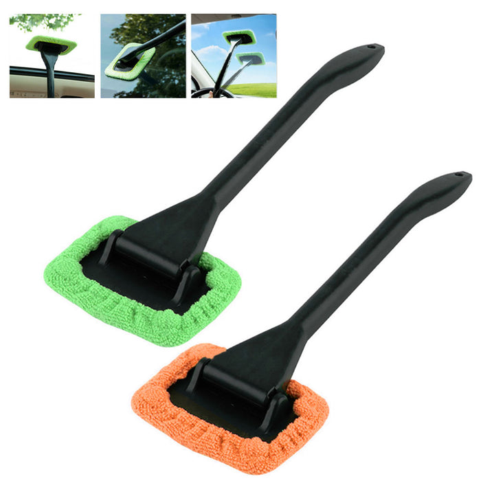 2 Pc Microfiber Windshield  Wiper Clean Car Auto Cleaner Glass Window Brush Kit