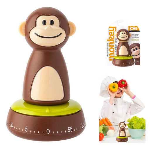 Joie Monkey Kitchen Timer 60 Minute Cook Time Mechanical Count Down Egg Cooking