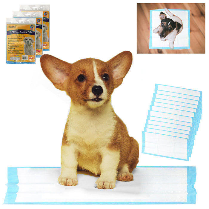 "12 Pack Puppy Training Pads Premium Quilted 22.4"" Dog Wee Wee Pee Pet Underpads"