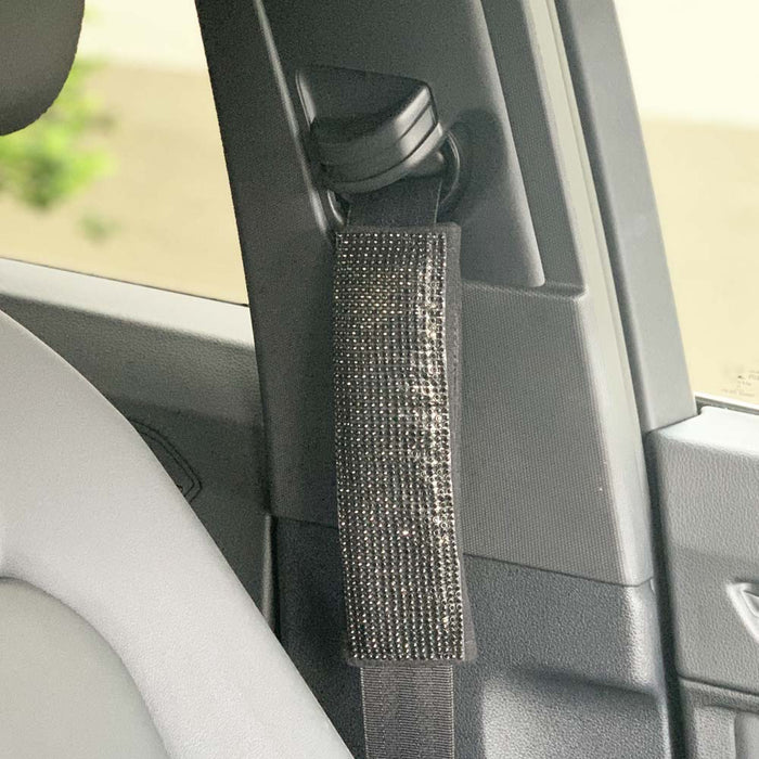1 Bling Car Seat Belt Shoulder Crystal Pad Cover Interior Cushion Accessory SUV