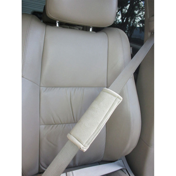 2 Car Safety Seat Belt Pads Soft Shoulder Strap Cover Cushion Truck Auto Beige