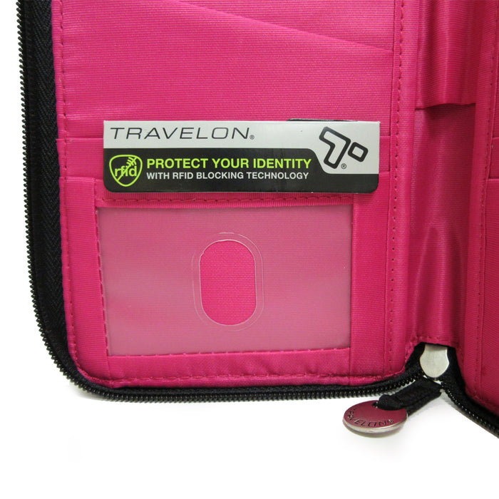 Family RFID Passport Holder Blocking ID Travel Wallet Organizer Case Travelon US