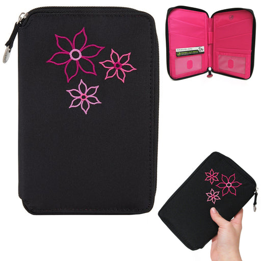 Family Passport Holder RFID Blocking ID Travel Wallet Organizer Case Travelon US