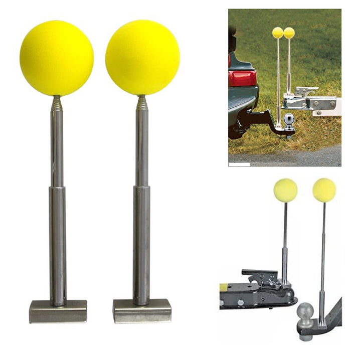 2 Magnetic Telescoping Trailer Hitch Alignment Kit Balls RV Boat Utility Trailer