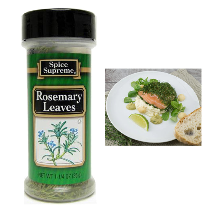 1 Spice Supreme?� Rosemary Leaves Seasoning 1.25 Oz Jar Cooking Dry Rub Veggies