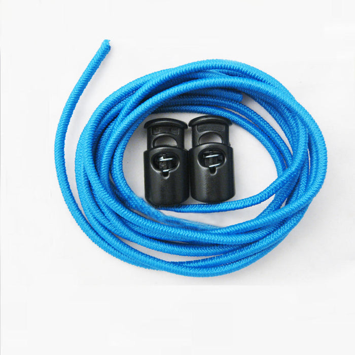3 Pairs Elastic Shoe Laces Triathlon Marathon Running Run Shoelace Release Blue