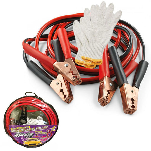 Booster Cables 4 Gauge 16 FT Jumper Cable Emergency Power Heavy Duty Car Battery