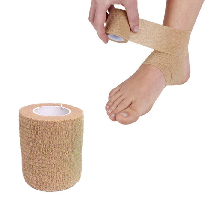 3Pc Self Adhering Bandages 3in x 2yd Sports Stretch Wrap Adherent Tape First Aid