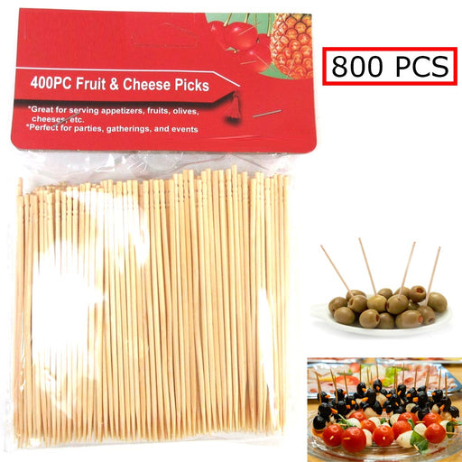 800 Ct Fruit Cheese Picks Wooden Natural Bamboo Picks Catering Parties Oral Care