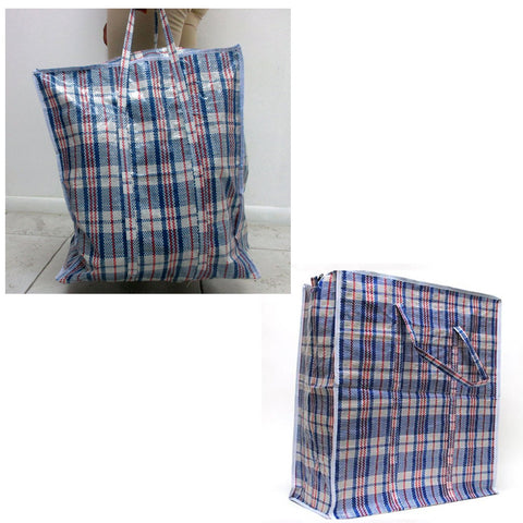 2 Large Tote Storage Bag Reusable Shopping Groceries Laundry Organizing Zippered