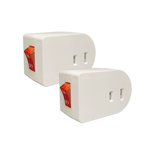 2 Pc Single Port Power Adapter Switch Outlet Wall Tap Electrical On Off Lighted