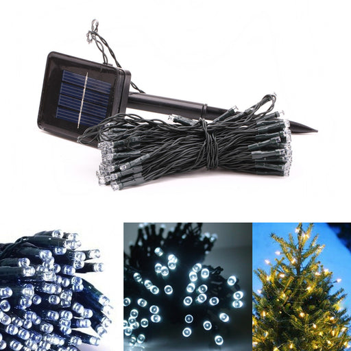100 Solar Powered LED String Fairy Lights Party Xmas Outdoor Garden Tree Decor !