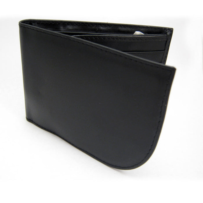 Travelon RFID Blocking Leather Front Pocket Wallet Id Card Mens Black Billfold