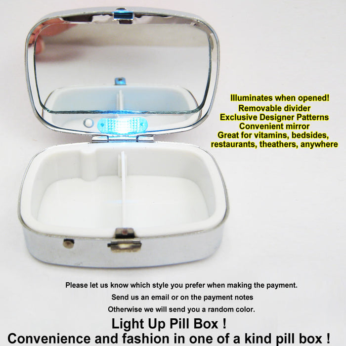 1 LED Light Up Pill Case Box Medicine Drug Container Holder Pillbox Tablet Gift
