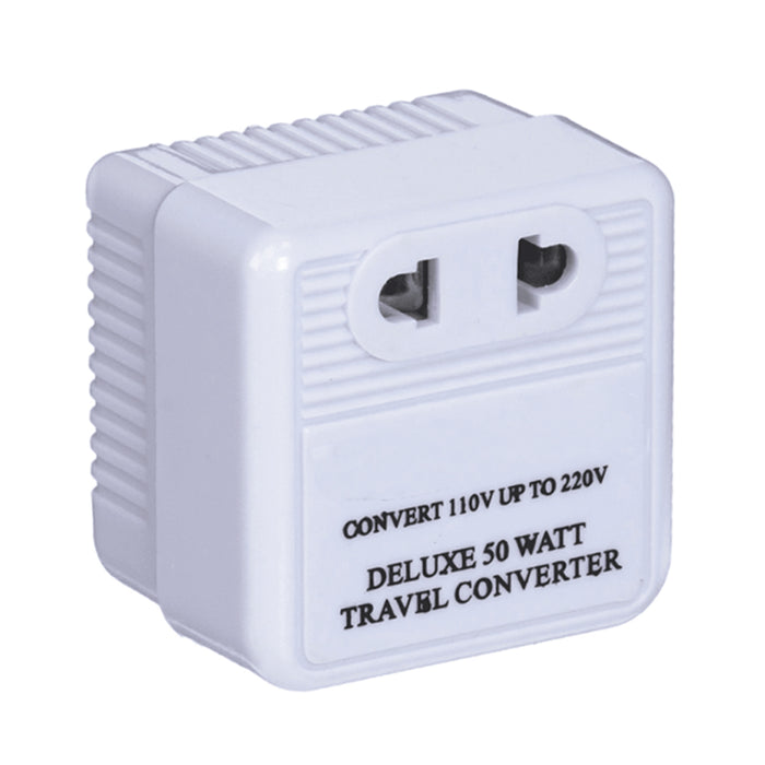 110V to 220V STEP UP VOLTAGE CONVERTER 50W TRANSFORMER US CHARGER PLUG ADAPTER !