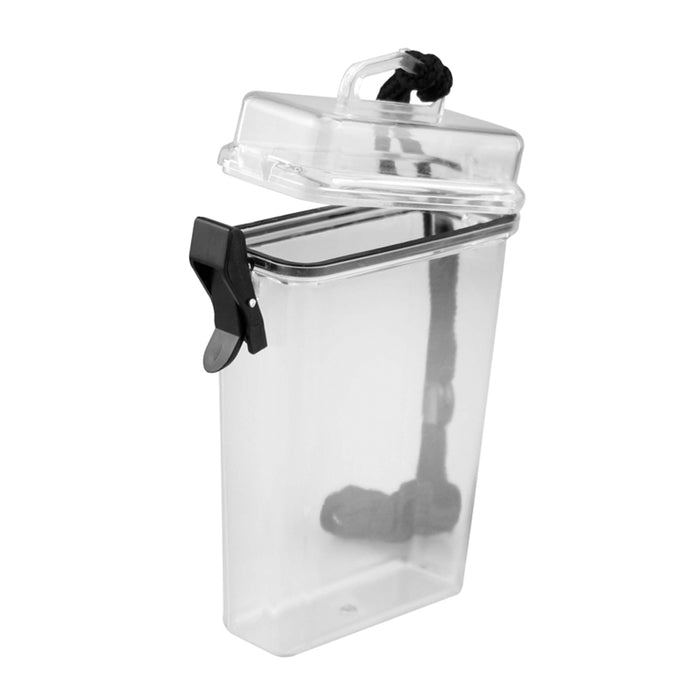 1 Waterproof Container Airtight Case ID Holder Plastic Box Keys Money Beach Pool