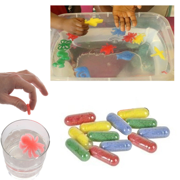 48 Pc Magic Grow Growing Animal Bug Capsules Expanding Sponge Foam Toy 4 Packs