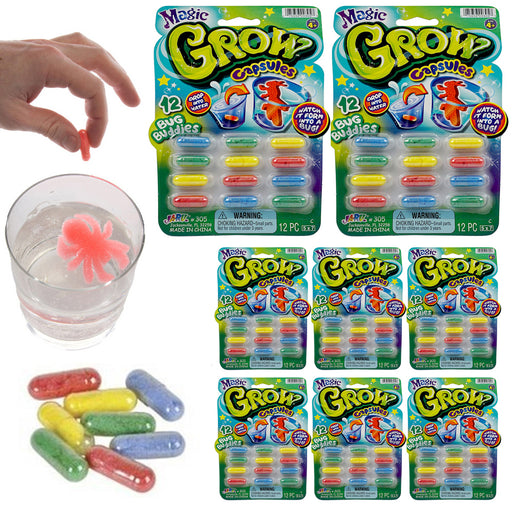 96 Pc Magic Grow Growing Animal Bug Capsules Expanding Sponge Foam Toy 8 Packs