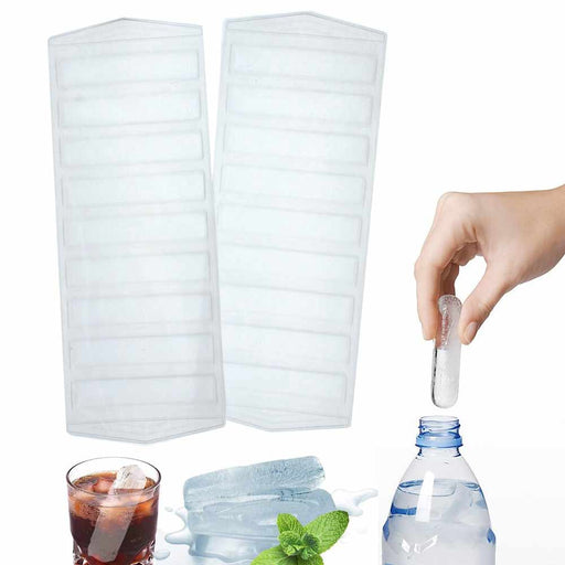 2 Pc Plastic Ice Cube Stick Tray Water Sport Bottle Drink Jello Candy Soap Mold